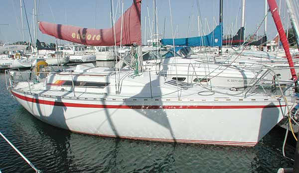 Beneteau First 32 waiting at the dock This is the one of the boats that made ...