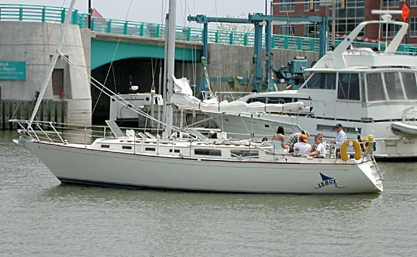 Sabre 38 heading out to Lake Michigan Sabre has always produced a true ...