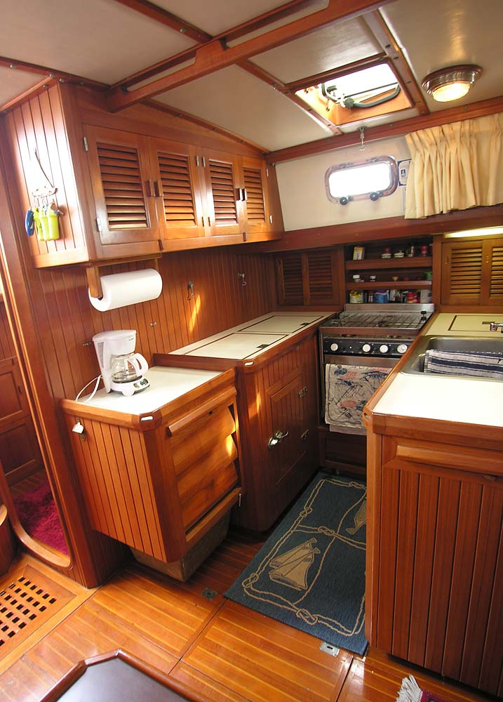 Slocum 43 used cruising sailboat Galley
